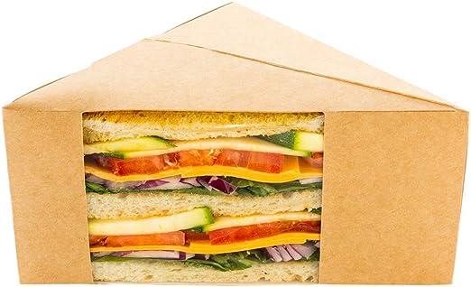 25 Sandwich Wedge Sandwich wedge box  Triangle Sandwich Packaging  Kraft 72mm