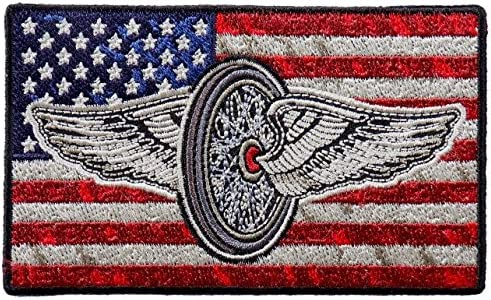 4 x 2 Embroidered Artwork Sew On Patch 2nd Amendment Flag Iron On Patches