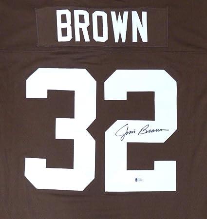 Cleveland Browns Jim Brown Autographed Mitchell   Ness Jersey Beckett BAS feddc5664