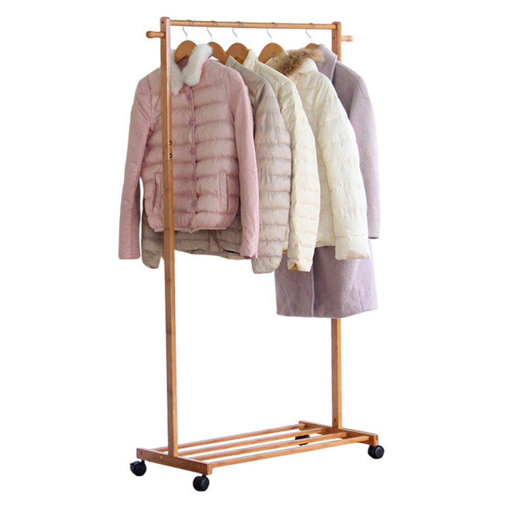 JIANFEI Floor Standing Coat Rack Hat Stand Hanger 2 Hooks High Capacity Hangers 1 Layer Shelf Shoe Storage, Bamboo (Size : 6038145cm)
