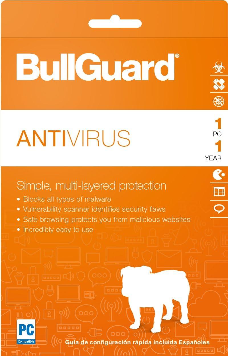 CD Global BullGuard Antivirus 2019-1 PC 1-Year