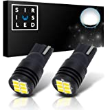 SIRIUSLED Extremely Bright 400 Lumens 3020 Chipset Canbus Error Free LED Bulbs for Interior Car Lights License Plate Dome Map Side Marker Courtesy T10 168 194 2825 W5W 6000K Xenon White