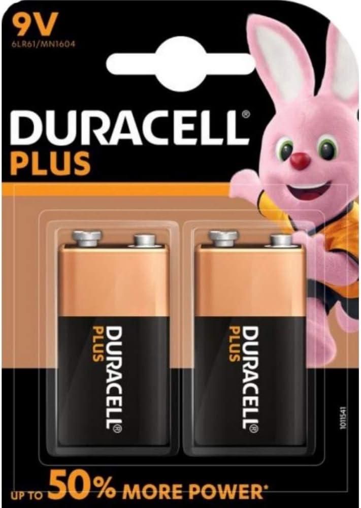 Duracell Plus Mn1604 Alkaline 9 V Battery 2 Pack Elektronik