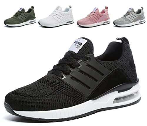 9951a88e4c Hishoes Air Sport Shoes Men s Women s Running Trainers Sneakers Lightweight  Comfort Lace up Casual Walking Fitness