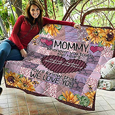 VTH Global Personalized Custom Kids Children Names Mom Mother Touch Heart Mothers Day Quilt Fleece Throw Blanket Twin Queen Size Tapestry Wall Hanging: Home & Kitchen