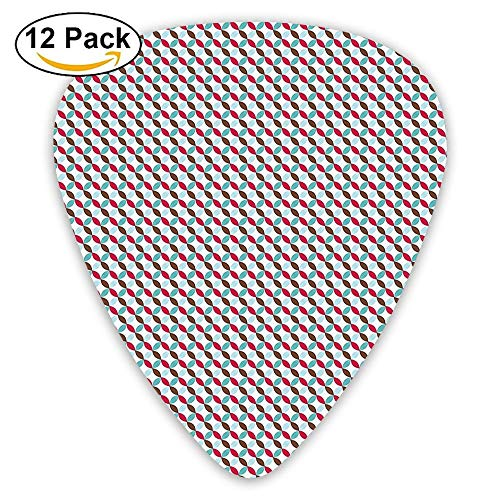 - Contigous Colorful Flower Petals On The Bias Pattern Guitar Picks 12/Pack Set