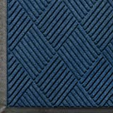 Andersen 208 Waterhog Classic Diamond Polypropylene Fiber Entrance Indoor/Outdoor Floor Mat, SBR Rubber Backing, 5-Feet Length X 3-Feet Width, 3/8-Inch Thick, Navy