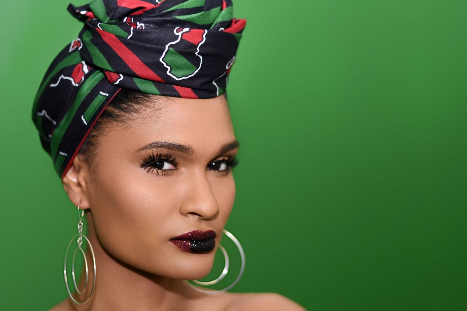 African Royale Black and White African Headwrap