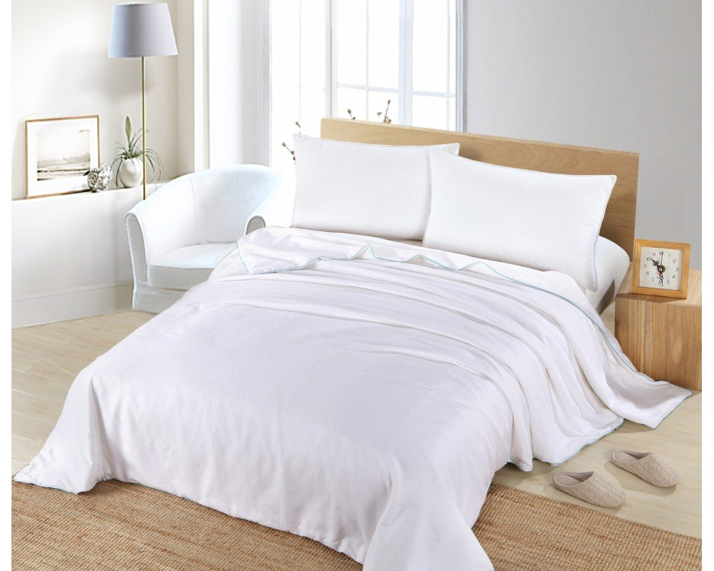 Silk Camel Luxury Allergy Free Comforter / Duvet Filling with 100% Natural long strand mulberry Silk for Summer - California King Size by Silk Camel
