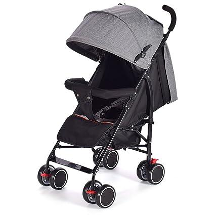 &Carrito de bebé Carro de bebé empuje paraguas coche Ultra-ligero portátil plegable puede sentarse