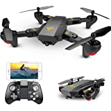 Hotbird Mini Foldable Selfie Drone With Camera 2MP 120° Wide Angle HD Camera 2.4G Wifi FPV RC Quadcopter Gravity Sensor Altitude Hold 3D Flips Rolls 6-Axis Gyro RTF RC Drones