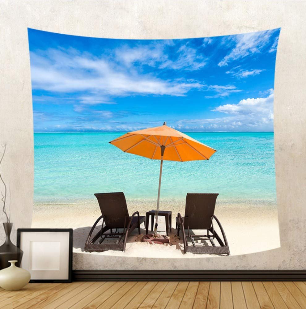 Amazon.com: Huanxidp Tapestries Hermosa Vista Al Mar Silla ...
