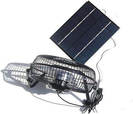 NUZAMAS 5,2 W 6 V Panel solar alimentado grande 8 pulgadas ...