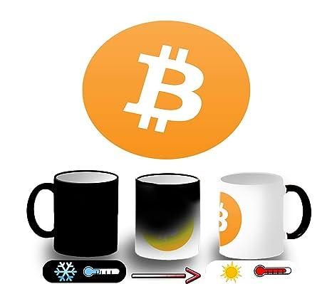 MERCHANDMANIA Taza Magica SIMBOLO Bitcoin Moneda Virtual ...