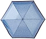 Knirps 815-499-2 Compact Manual Open/Close Travel Umbrella, One Size (Flakes Blue)