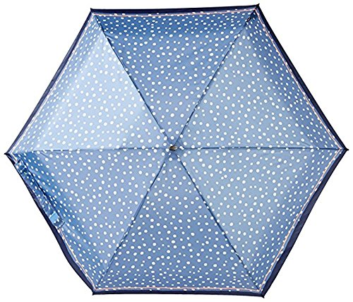 Knirps 815-499-2 Compact Manual Open/Close Travel Umbrella, One Size (Flakes Blue) by Knirps