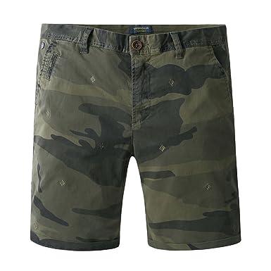 Shorts Men's Camouflage Knee Length Cargo Shorts Size Large