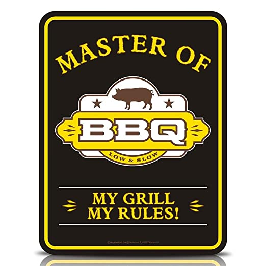 2 x Cartel de chapa Cartel FUN Cartel - Master Of BBQ - 17 x ...