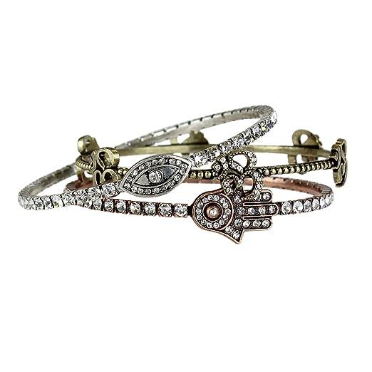 Amazon Symbols Of Inner Peace Bangle Bracelets Clothing