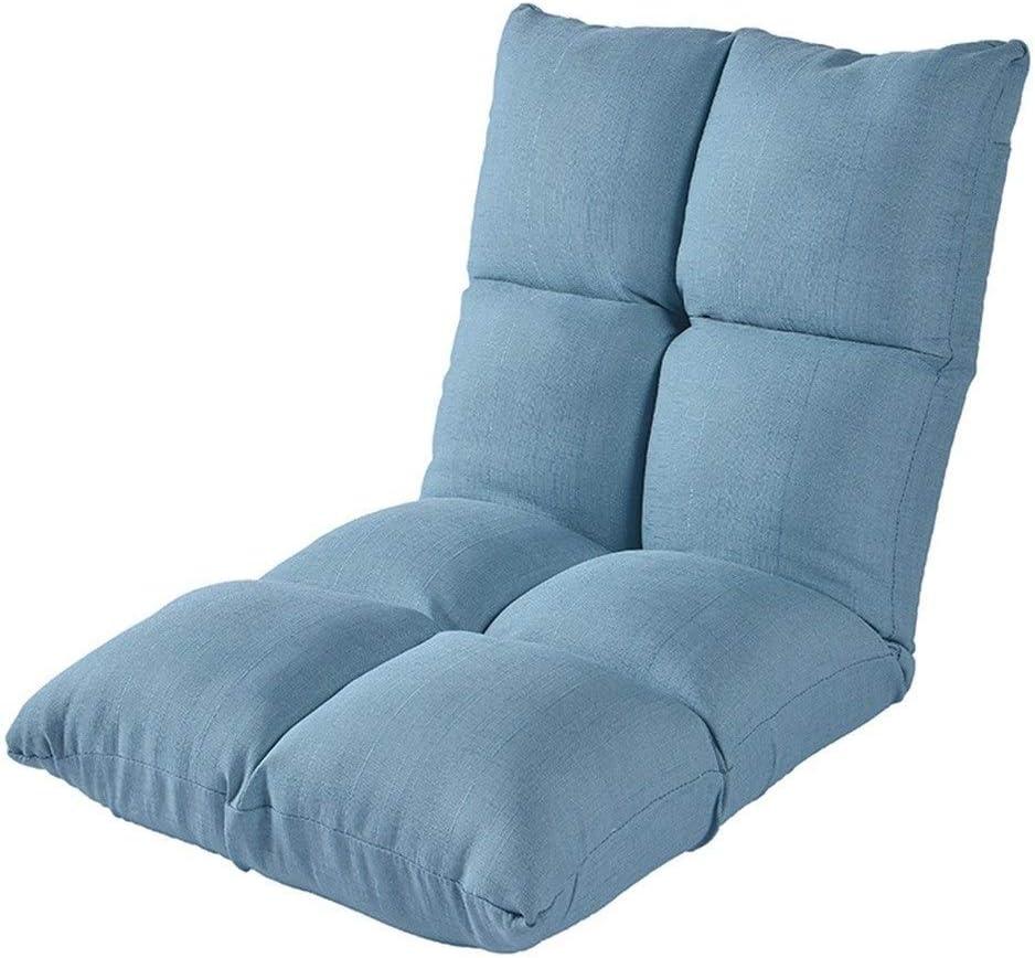 Xiao Tian Portable Multi-Purpose Lazy Single Sofa,Living Room Furniture Recliner (Color : Lake Blue)