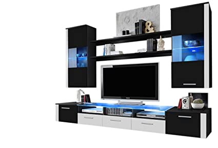 Concept Muebles Fresh Modern Wall Unit/Entertainment Centre/Spacious And  Elegant Furniture/Tv