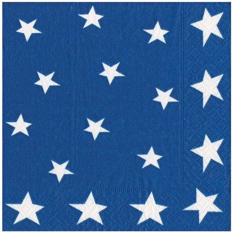 Pack of 20 Entertaining with Caspari Star Spangled Paper Luncheon Napkins