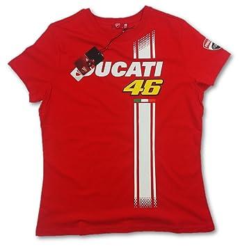 Ducati Corse Valentino Rossi 46 Red Stripe señoras camiseta Rojo rosso Talla:small