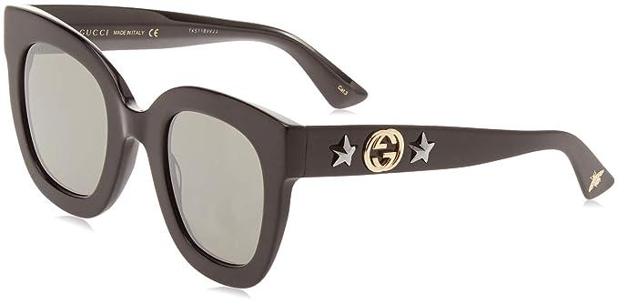 Gucci GG0208S 002 Gafas de Sol, Negro (2/Grey), 49 para ...