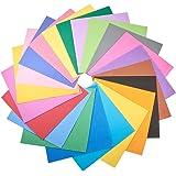 WANDIC フォームシート紙, 48個 手芸シート カラフルなクラフトスポンジ盛り合わせ DIYのプロジェクトのための, 教室, パーティーなど, 24色 各2個