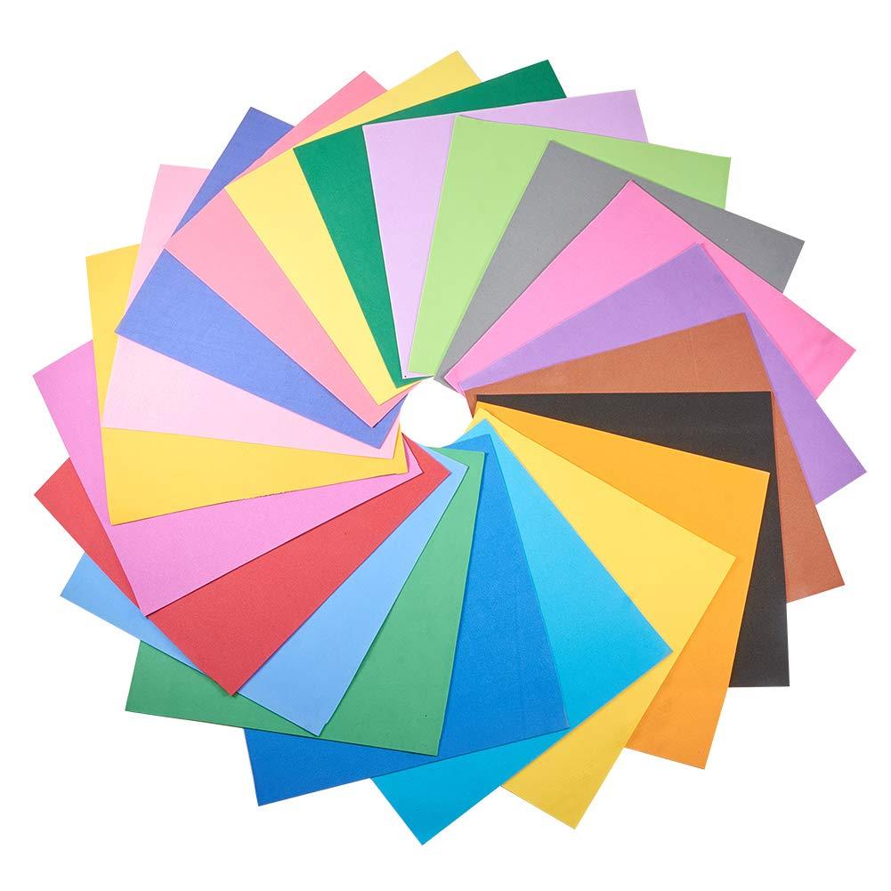 WANDIC フォームシート紙, 48個 手芸シート カラフルなクラフトスポンジ盛り合わせ DIYのプロジェクトのための, 教室, パーティーなど, 24色 各2個 B07QQBRZC4