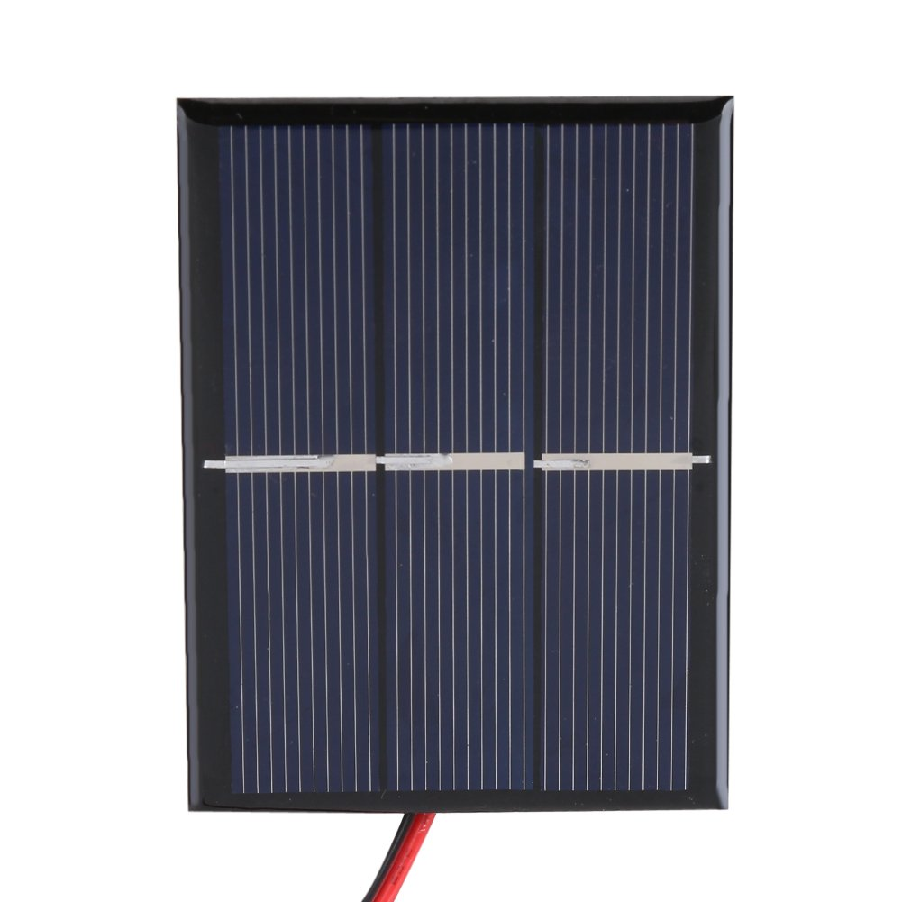 Fdit Sonnenkollektor 0,65 Watt 1,5 V Mini Tragbare Solarmodul DIY Power Solarmodul Ladeger/ät 2 st/ücke