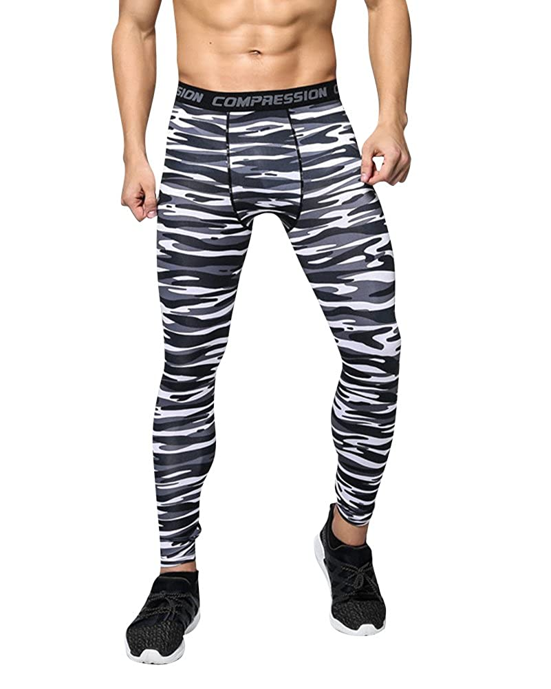 MISSMAO Pantaloni Uomo Yoga Pantaloni Sport & Fitness Pantaloni Uomo Allenamento Leggings Palestra Running Yoga Pantaloni Atletici