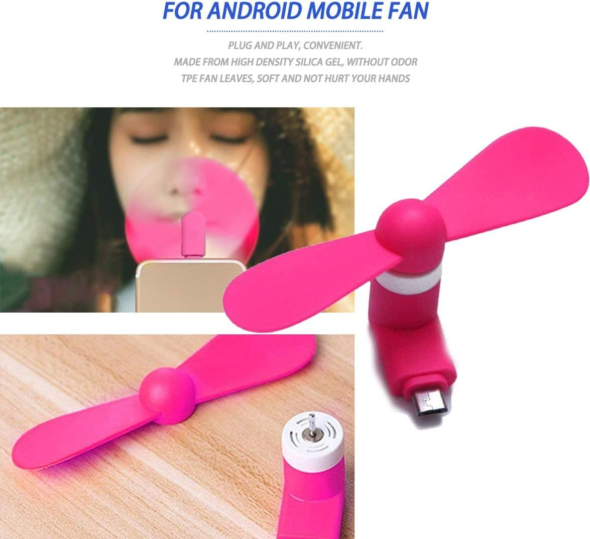 for Android Portable Cool Micro USB Fan 5V 1W Mobile Phone USB Fans Low Voice for Android Mobile Phone USB Power Supply