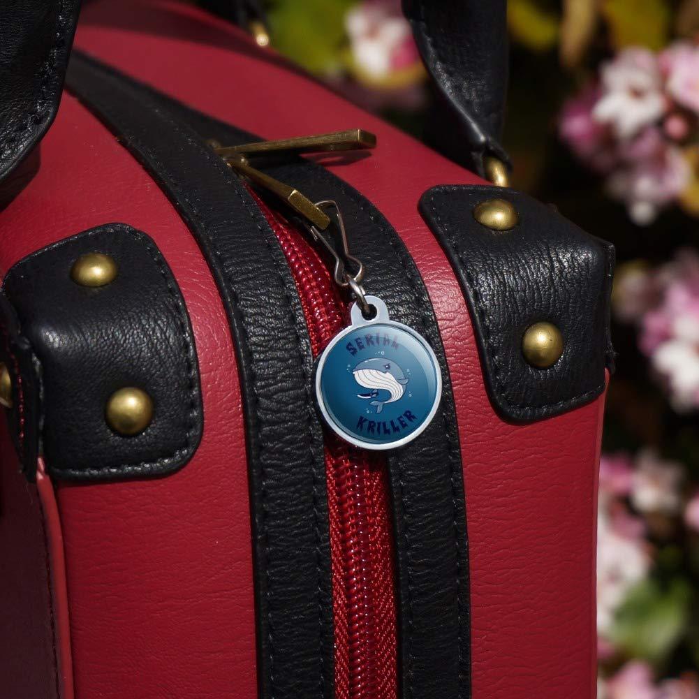Serial Kriller Whale Killer Funny Humor Jacket Handbag Purse Luggage Backpack Zipper Pull Charm