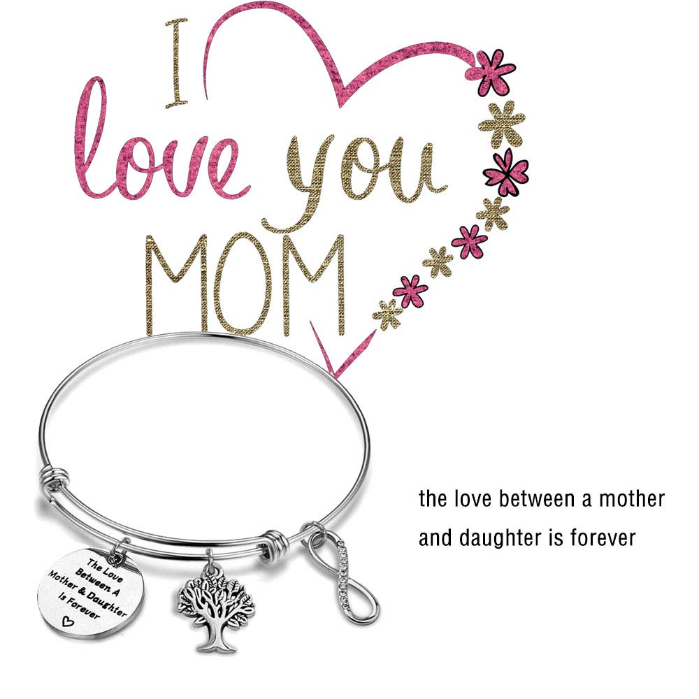 AKTAP Mother Daughter Gift Mother Bracelet The Love Between A Mother Daughter is Forever Tree Life Bracelet from Daughter