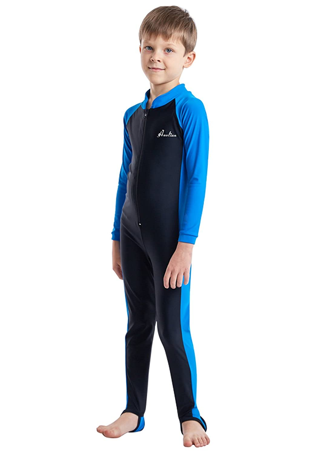 Sun Protection Swimwear Wetsuit Quick Dry Swimming Surfing Costume for Water Sports HaoLian Boys Girls Full Length Swimsuit One Piece UPF 50