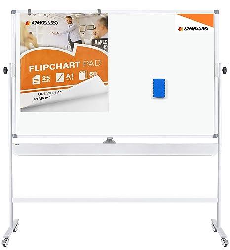 Amazon.com: Pizarra blanca móvil – Gran altura ajustable 360 ...