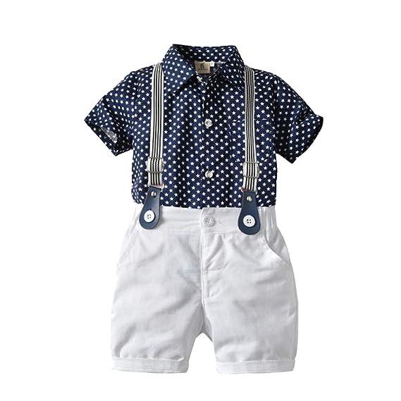 167f95e1d Baiomawzh Counjunto de Ropa Bebé Niño Verano Camisas De Mangas ...