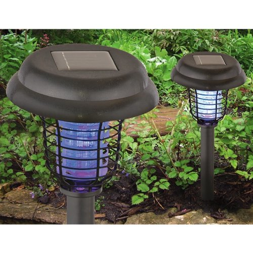 2 Solar Bug Zapper Lights Priced Less Insect Zappers