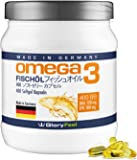 GloryFeel オメガ3脂肪酸 サプリメント– 400粒ソフトジェル – 原産国:ドイツ – 1000mg ピュアフィッシュオイル – 350mg オメガ3脂肪酸 – 180mg EPA/120mg DHA 配合 – たっぷり13ヶ月分–ステアリン酸マグネシウム未使用