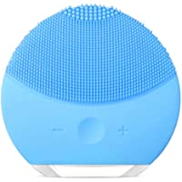 Instrument de Nettoyage en Silicone, xiaoyi Brosse de Nettoyage Anti-âge Sonic Waterproof Sonic pour Massages Faciaux en Silicone Pour Tous les Types de Peau (Bleu)