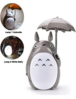 totoro anime led night lightwhite belly kids character lamp usb charge