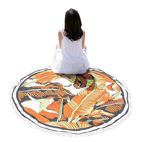YJYDADA - Manta redonda para picnic o yoga, diseño de borla ...