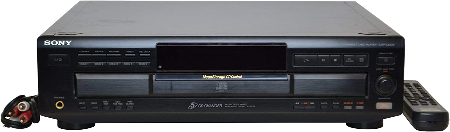 B00001R3WJ Sony CDP-CE525 5-CD Changer (Discontinued by Manufacturer) 61jg9GikS9L.SL1500_