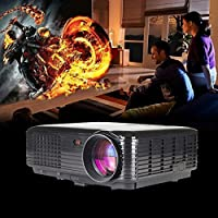 LightInTheBox3D Smart Projector Business Meeting SVGA (800x600) Projector 1080p LED Long Throw Projector