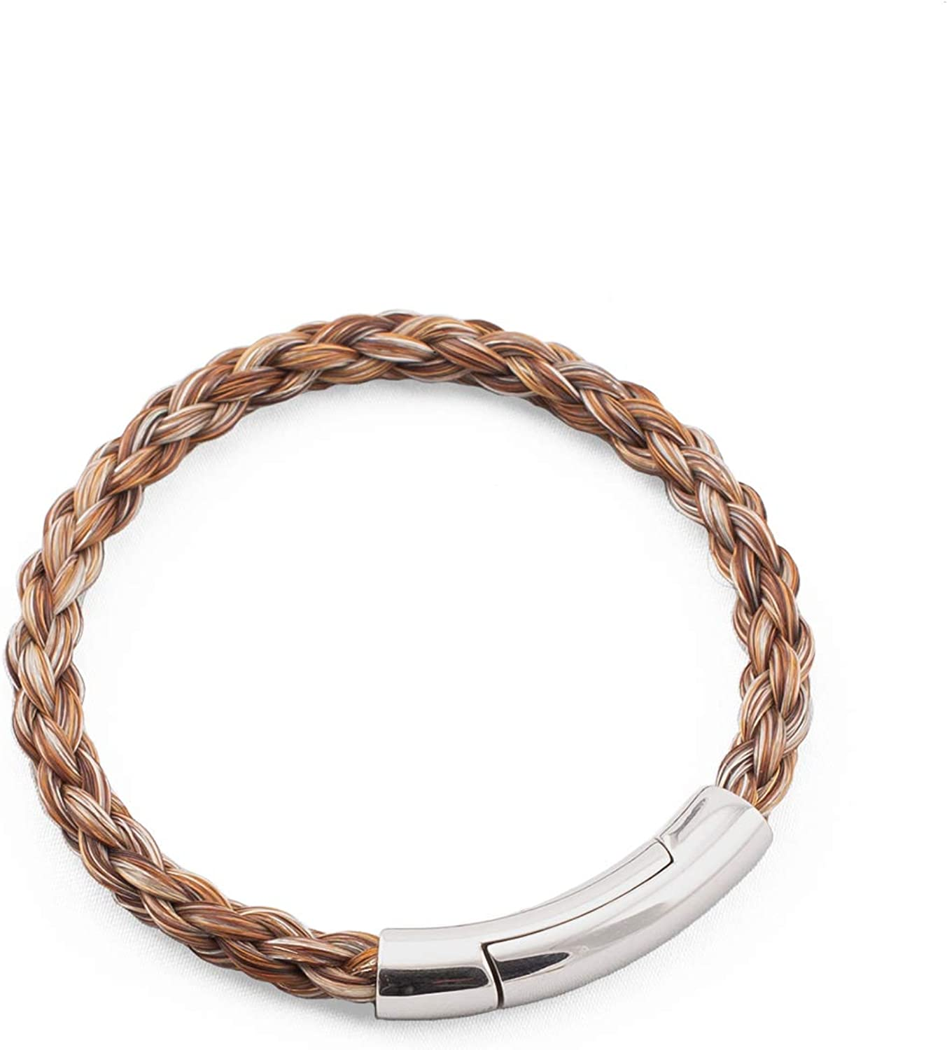 crintiff - Horsehair Bracelet for Men and Women - Collection Montana - Runded Braid - Choice of 5 Colors - Size from 6.7 to 8.3in