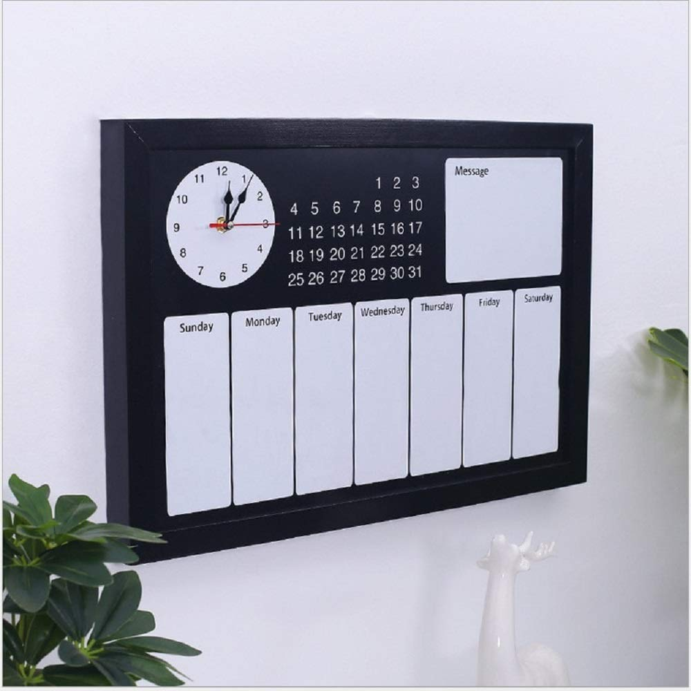 Decorative February 2020 Calendar For Message Boards Amazon.: Calendar Planner 2019 Large Black Wall Massive