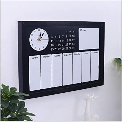 Amazon Com Calendar Planner 2019 Large Black Wall Massive