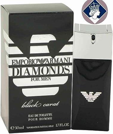 Giorgio Armani Diamonds For Men Black Carat Eau de Toilette Spray 50ml: Amazon.es: Belleza