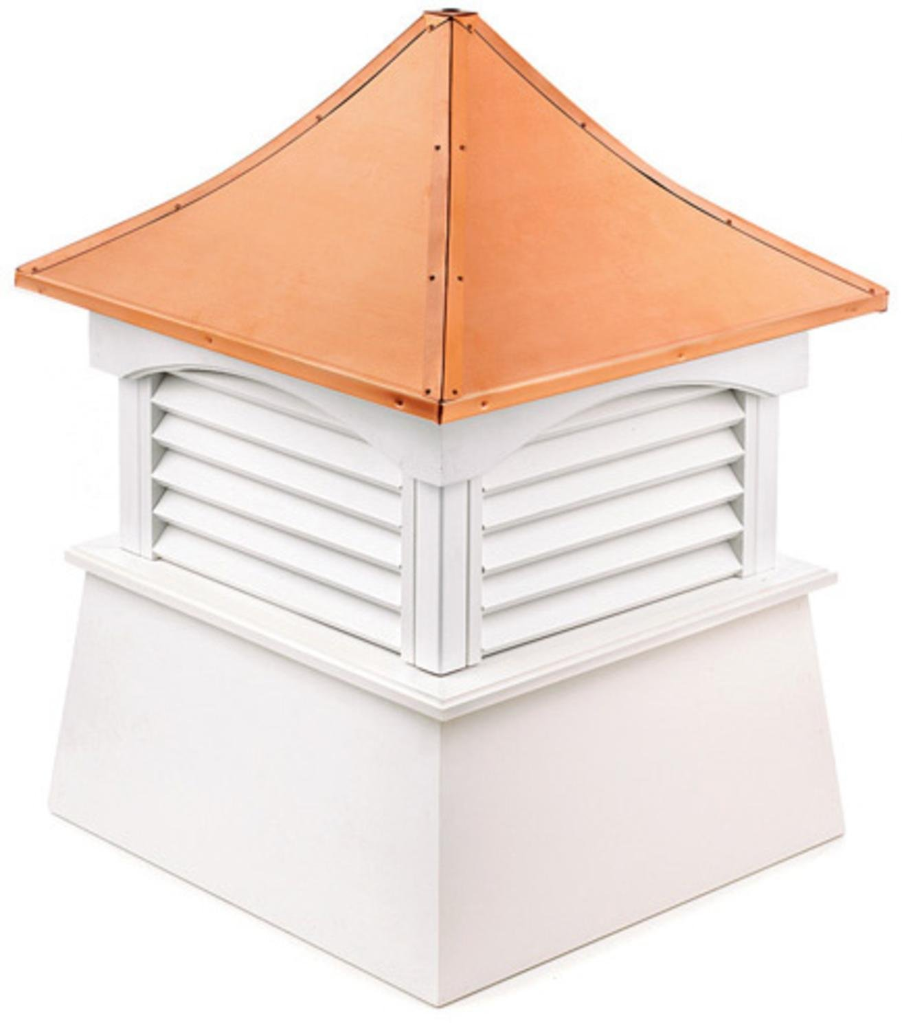 24'' Handcrafted ''Coventry'' Copper Roof Vinyl Cupola